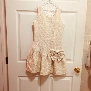 TCP Cream & Gold Rosette Dress 14
